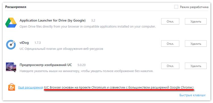 Совместимость с расширениями от Google